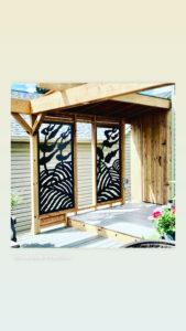 patio privacy lattice